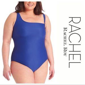 Rachel Roy Plus Curvy One-Shoulder One-Piece Suit
